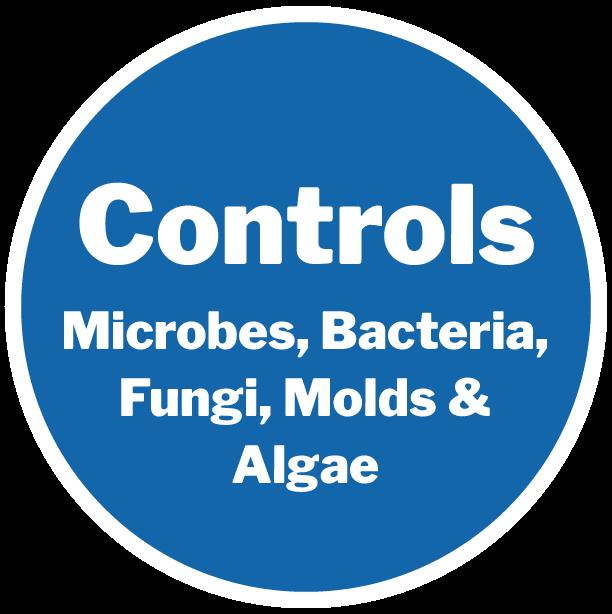 Controls Microbes, Bacteria, Fungi, Molds & Algae